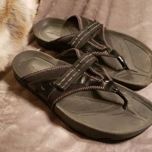 Earth sandals worn, comfortable and stylish